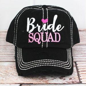 Accessories - NWT - 5 Caps - Bride Cap & Four Bride Squad Caps